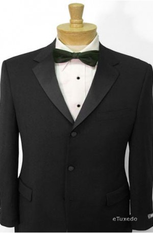 Kenneth Cole Black Slim Fit Tuxedo #20-703531-005
