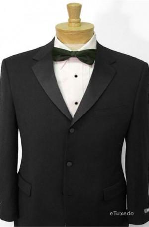 1-Button Black Tuxedo with Pleated Slacks #2003-Weitz