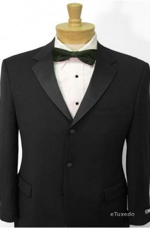 1-Button Black Tuxedo with Pleated Slacks #2003-Weitz