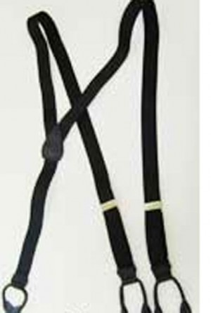 Black Button Suspenders