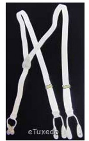 White Button Suspenders