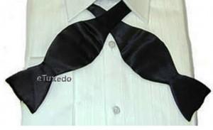 Self Tie Black Silk Bow Tie