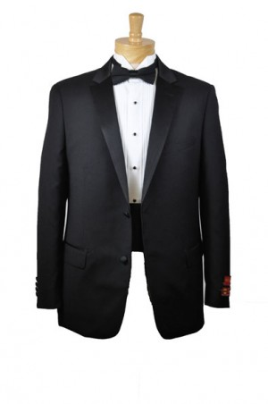 1-Button No-Vent Black Tuxedo 52003-1B