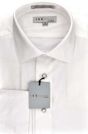 Ike Behar White Pique Tuxedo Shirt #5974-070