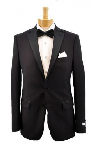 """Calvin Klein Burgundy """"Extreme Slim"""" Fit Tuxedo #5FWX0002"""