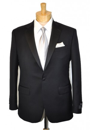 Paul Betenly Black 1-Button Tuxedo #6N0001