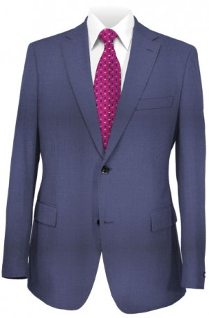 Betenly Wedding Suit Collection - Medium Blue Tailored Fit Suit #8T0012