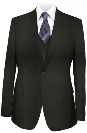 The Perfect Wedding Suit - Classic or Slim Fit Solid Black Vested Suit