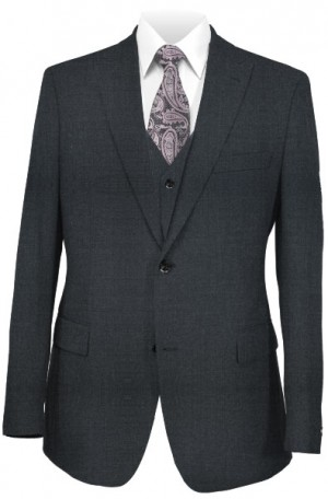 The Perfect Wedding Suit - Classic or Slim Fit Charcoal Vested Suit