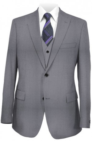 The Perfect Wedding Suit - Classic or Slim Fit Light Gray Vested Suit