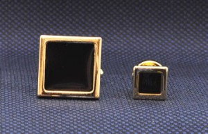 Gold Square Cuff Link & Stud Set #GOLD-SQUARE