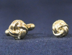 Gold Knots Cuff Link & Stud Set #GOLD KNOTS
