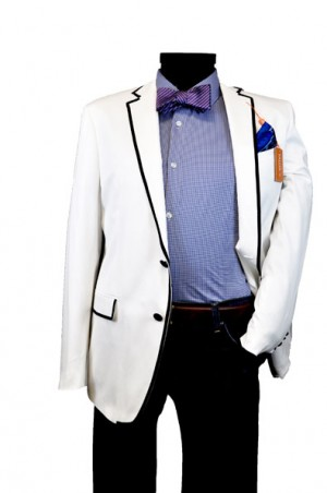 Tallia White Slim Fit Dinner Jacket #TBV0123