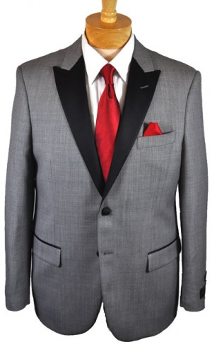 Tiglio Medium Gray Tailored Fit Tuxedo TIG-1018TUX