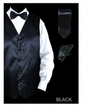 Formal Vest Set Black #VS801-BLK