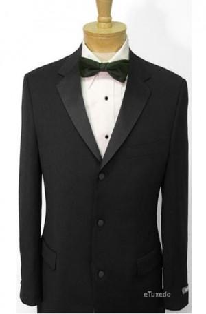 Ralph Lauren Black 3-Button No-Vent Tuxedo #LEDRITS100000-3B