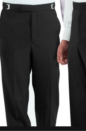 Black 2- Button Notch Lapel Tuxedo