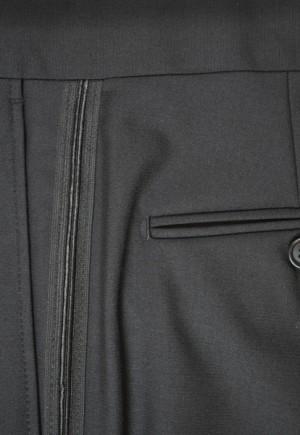 Zanieri Black Tuxedo with Pleated Slacks #89101-2B
