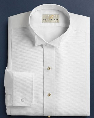 White Pique Formal Shirt #966-37