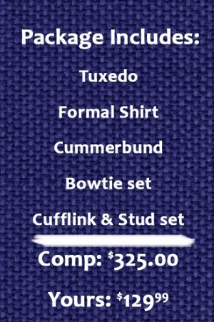 Perfect Prom Tuxedo Package
